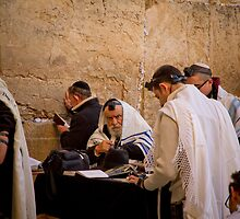 The Western Wall (Wailing Wall) by Miguel De Freitas