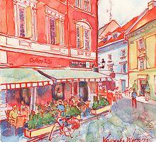 Coffee in Bratislava by Yevgenia Watts
