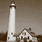 Lighthouse with Sponge Painting Effect by Frank Romeo