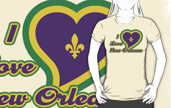 I Love New Orleans by HolidayT-Shirts