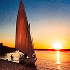 Nile Sunset - Egyptian Day Ends by Mark Tisdale