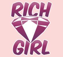 Rich girl with pink diamond jewel  by jazzydevil