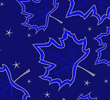 Blue maple leaves by Marishkayu