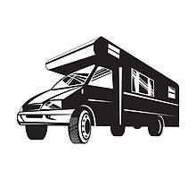 Camper Van Motor Home Retro  by patrimonio