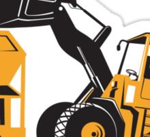 Front End Loader Digger Excavator Retro  Sticker