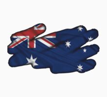 Australian Flag Rub Out by Craig Stronner