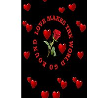 *•.¸♥♥¸.•*LUV MAKES THE WORLD GO ROUND IPHONE CASE*•.¸♥♥¸.•* by ✿✿ Bonita ✿✿ ђєℓℓσ