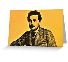 Albert Einstein 1904 in Bern hdr burn Greeting Card