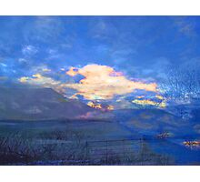 Blue Sky on a Snowy Morning Photographic Print