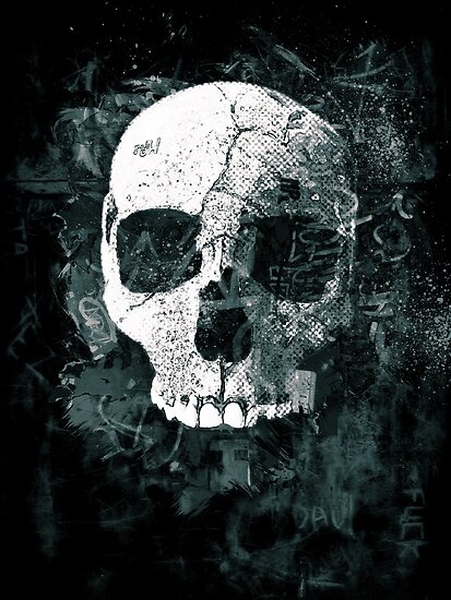 Skull Grunge by David Atkinson
