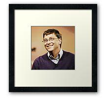 celebrities  bill gates 2 Framed Print