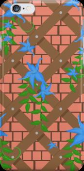 wicker with blue flowers by Marishkayu
