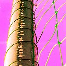 Abstract Soccer Goal by emily fields