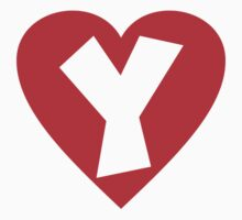 I love Y- Heart Y - Heart with letter Y by theshirtshops