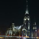 St. Elizabeth Church at Night by Oleksiy Rybakov