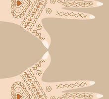 hand with henna by Marishkayu