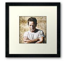 celebrities  bruce springsteen Framed Print