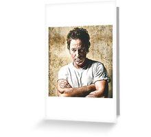 celebrities  bruce springsteen Greeting Card