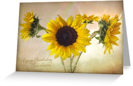 Sunflowers Sunshine Happy Birthday Card by LouiseK