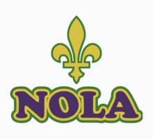 NOLA New Orleans Louisiana by HolidayT-Shirts