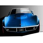 Corvette Stingray 1969 by Jason Battersby Design