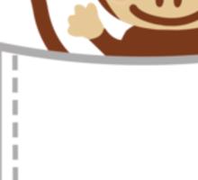 Monkey in Breastpocket Sticker