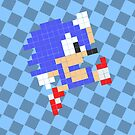 8-bit Hedgehog Case by sonicfan114