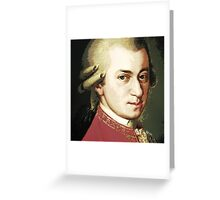 celebrities  wolfgang amadeus mozart Greeting Card