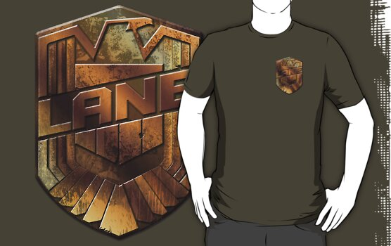 Custom Dredd Badge Shirt - Pocket - (Lane)  by CallsignShirts
