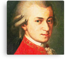 celebrities  wolfgang amadeus mozart 2 Canvas Print