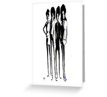 Badass Skinny Ladies Greeting Card