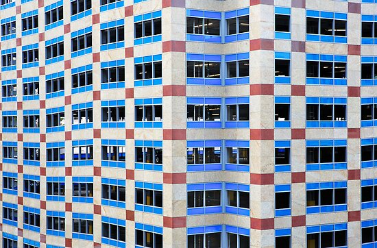 Angular Blue window building by bobkeenan