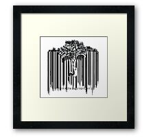 UNZIP THE CODE barcode graffiti print illustration Framed Print