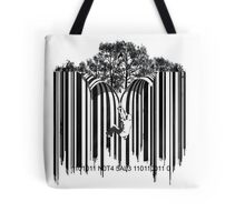 UNZIP THE CODE barcode graffiti print illustration Tote Bag