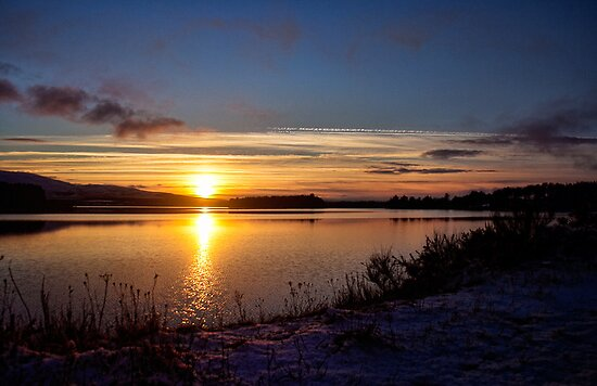 Winter Sunset by Lynne Morris