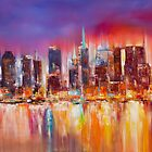 Vibrant New York City Skyline by Mitchell Nick