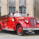 Vintage Fire Truck by Susan Savad