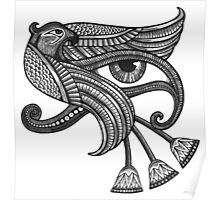 Eye of Horus (Tattoo Style Print) Poster