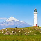 Cape Egmont Lighthouse and Taranaki by Linda and Colin McKie