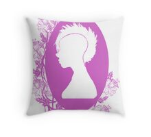 Vintage Punk Cameo Lavander Throw Pillow
