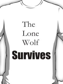 The Lone Wolf Survives Black T-Shirt