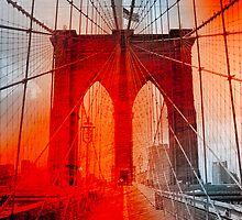 New York City - Brooklyn Bridge by Jeff Kaster