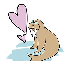 Hippy Love Walrus by CatAstrophe