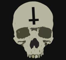 Inverted Cross Skull by myacideyes