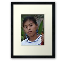 Young And Proud Indian Lady - Jovencita Indigena Orgullosa Framed Print