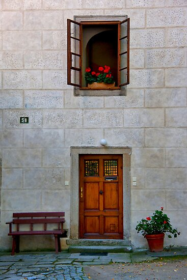 Door, Bench, And Window by phil decocco