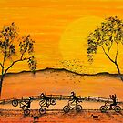 """Ned Kelly Gang's Antics At Sunset""SOLD 24/02/2013 by EJCairns"