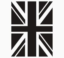 BRITISH, UNION JACK FLAG, UK, UNITED KINGDOM IN BLACK by TOM HILL - Designer