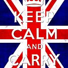 Keep calm and carry on with british flag by nadil