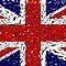British flag with shattered effect by nadil
